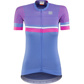 Sportful Diva 2 Jersey Women Parrot Blue/Bubble Gum/White